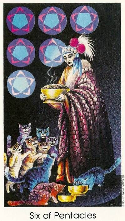 Resultado de imagen para 6 of pentacles tarot