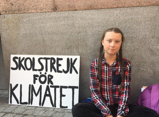 Age Of Protests >> Young activist, Greta Thunberg, protests in Sweden calling on politicians to take climate issues ...