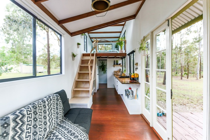 Young Couple Turn Diy Project Into A Tiny House And Base For Their